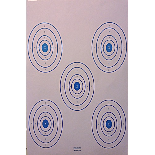 Qty:100, 5x SHOOTING OVALS 23x35