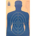 Qty: 50 B-27 Bright Blue Silhouette Shooting Targets W/Arms 23x35