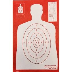 Qty:100, B-29 REV. RED Silhouette Shooting Targets 11x17